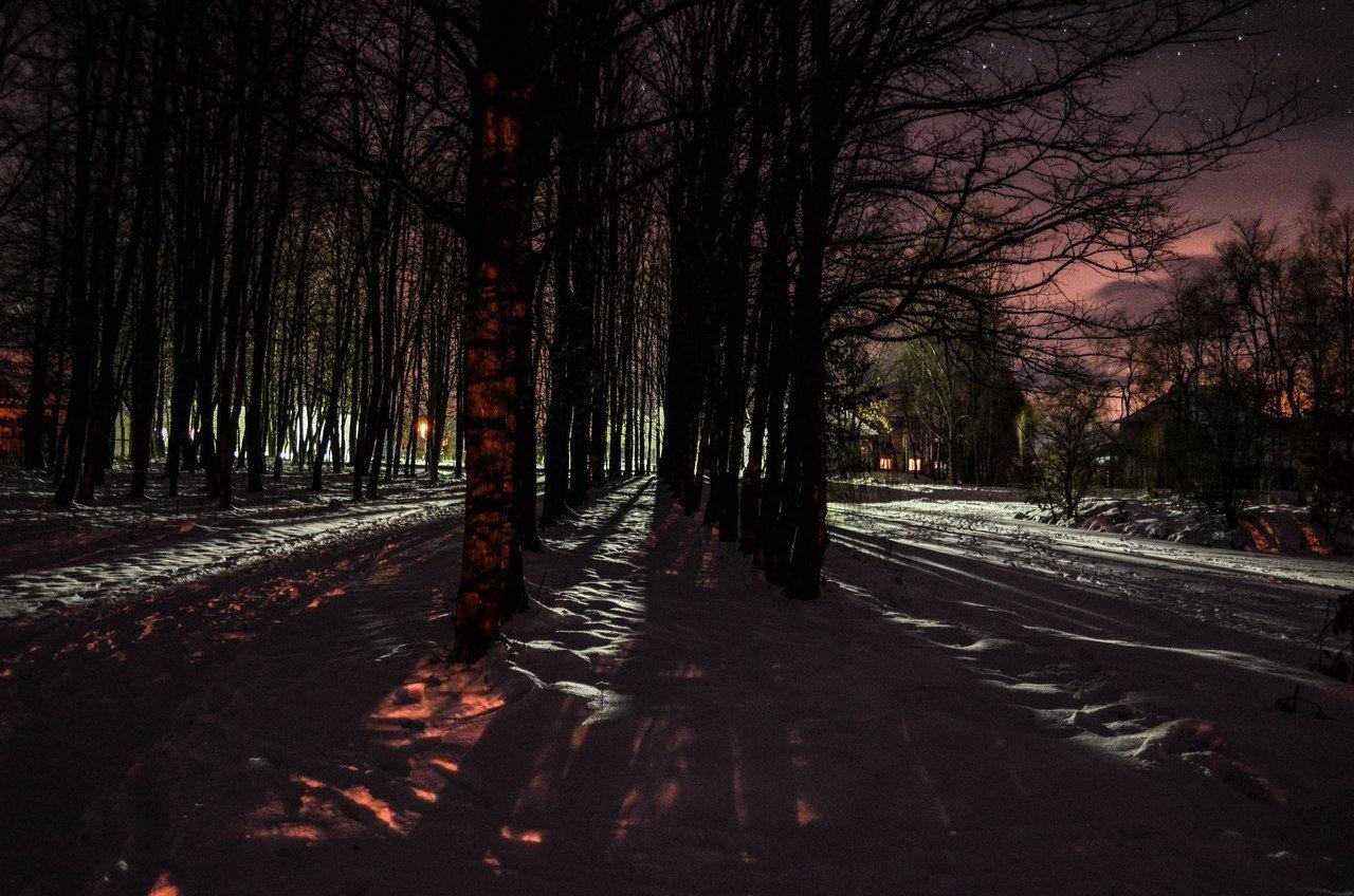смт Богородчани, нічний парк