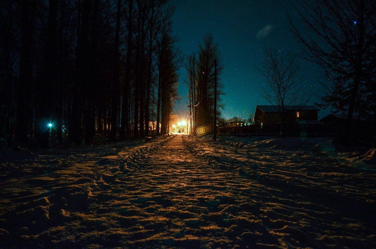 смт Богородчани, нічна панорама парку