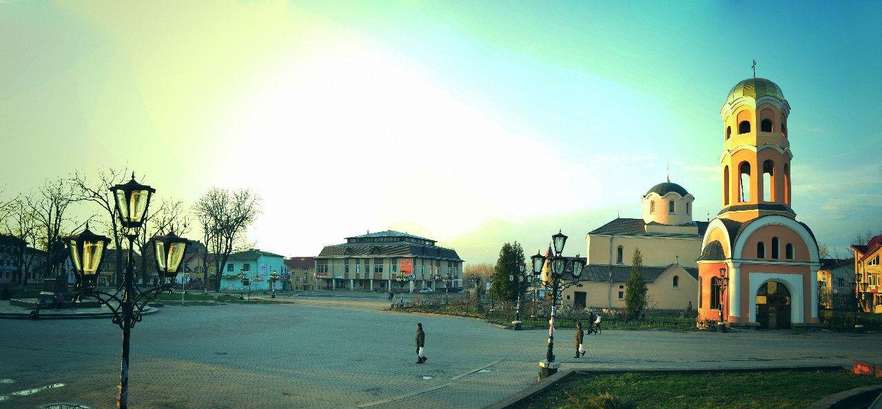 Галич, панорама центральної частини міста