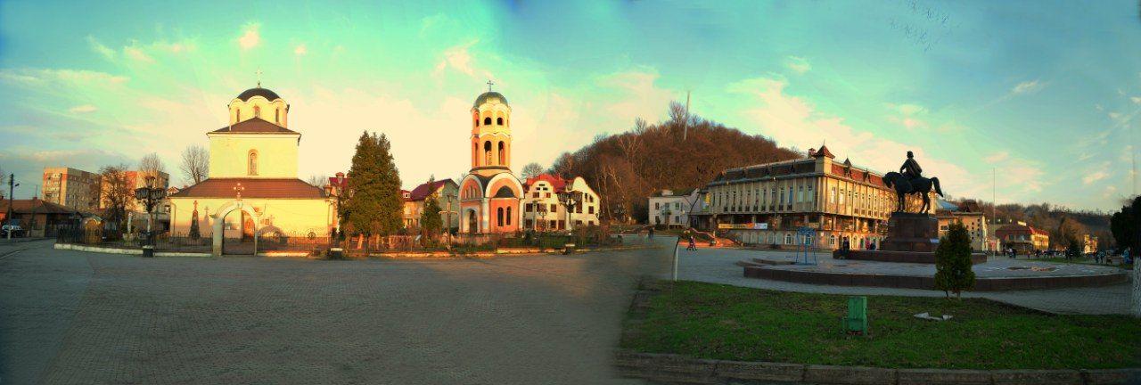 Панорама центральної частини міста Галич