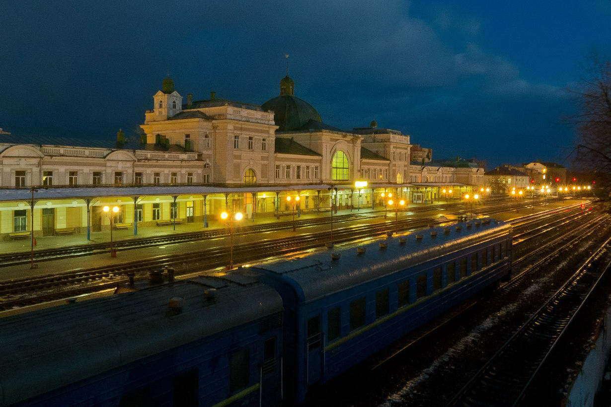 Залізничний вокзал в Івано-Франківську