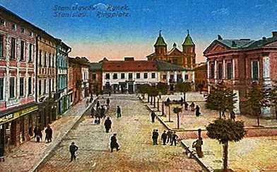 Площа ринок. Станиславів