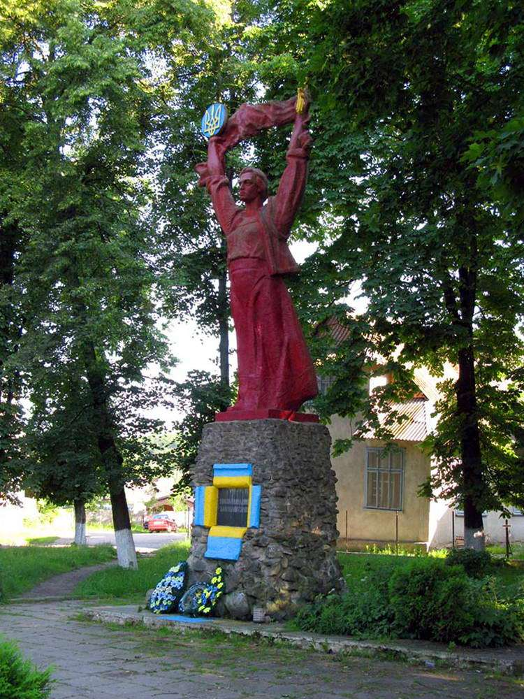 смт Яблунів, монумент на честь незалежності України