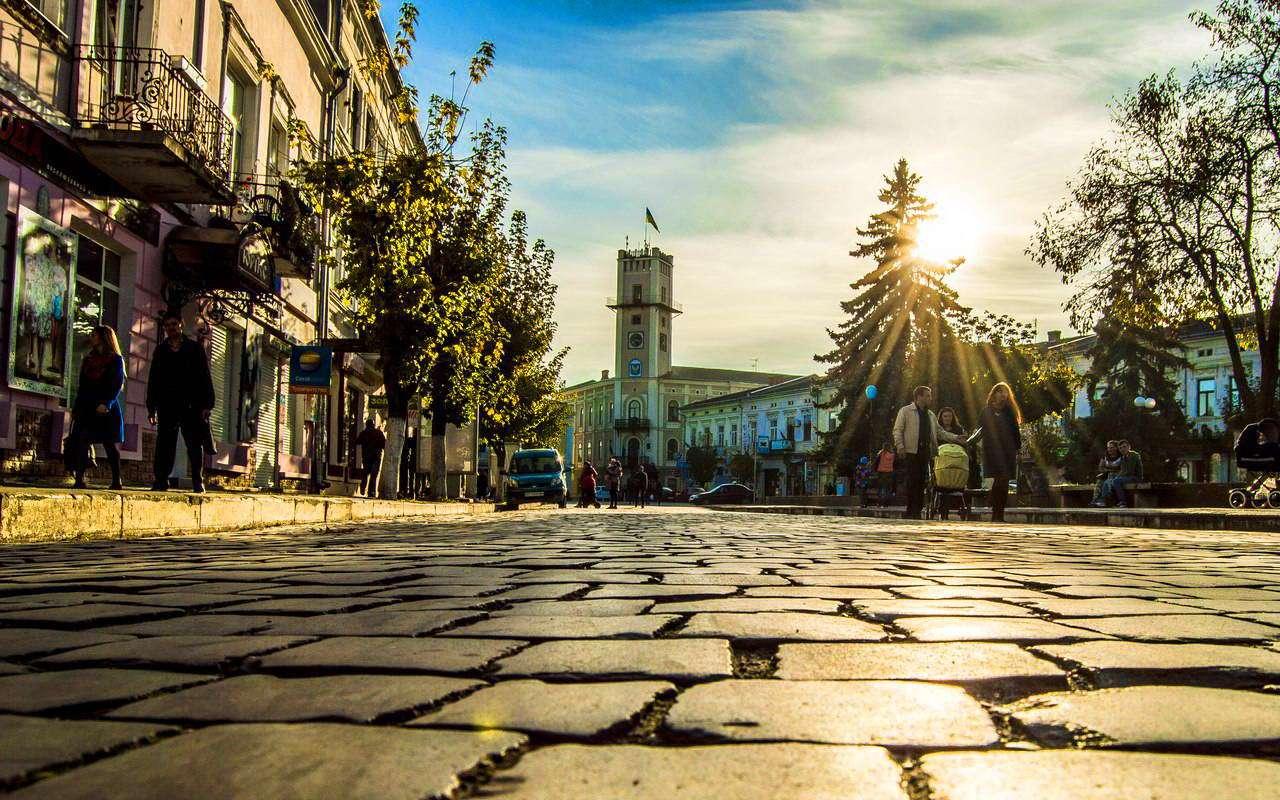 Пл. Ринок в місті Коломия