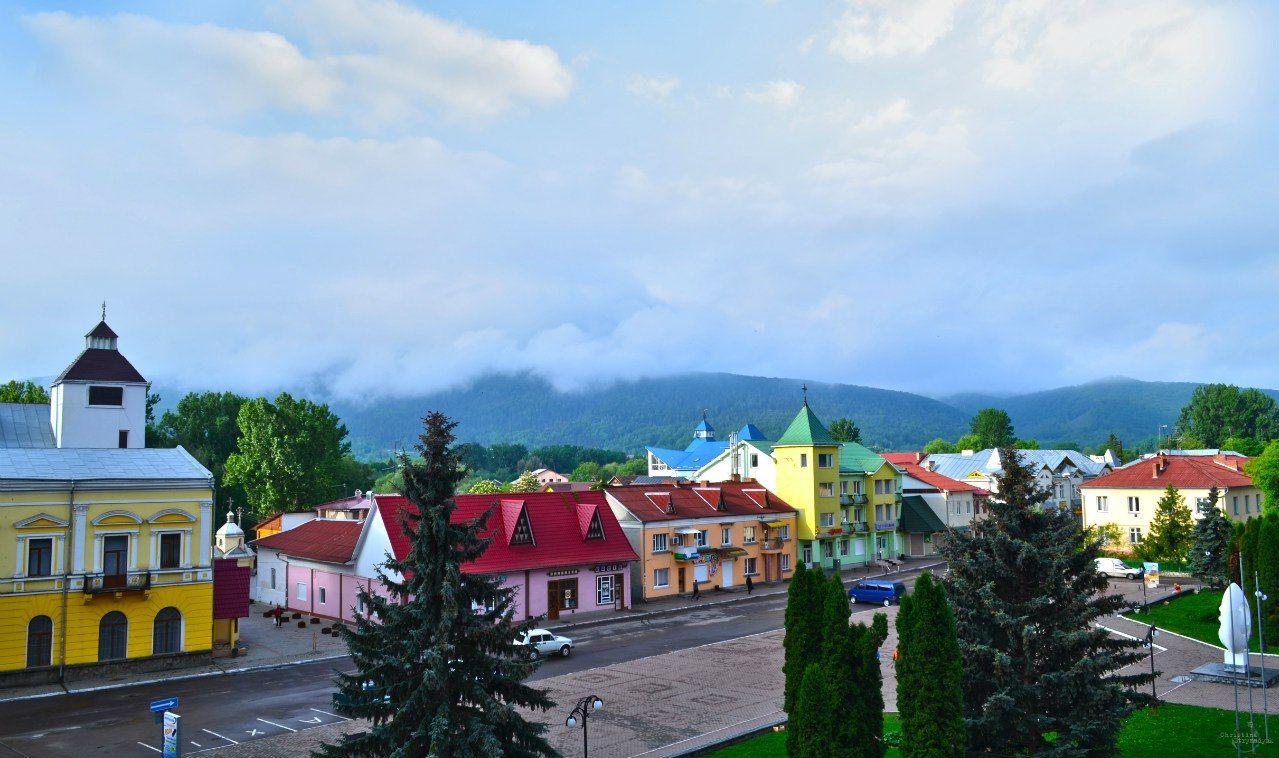 г. Косов, панорама центральной части города