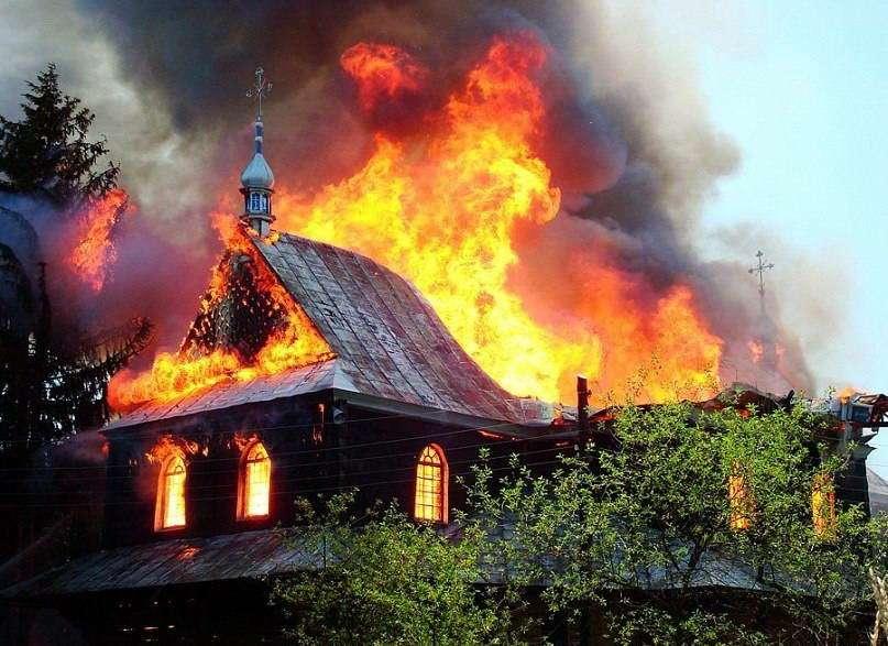 г. Косов, пожар в церкви