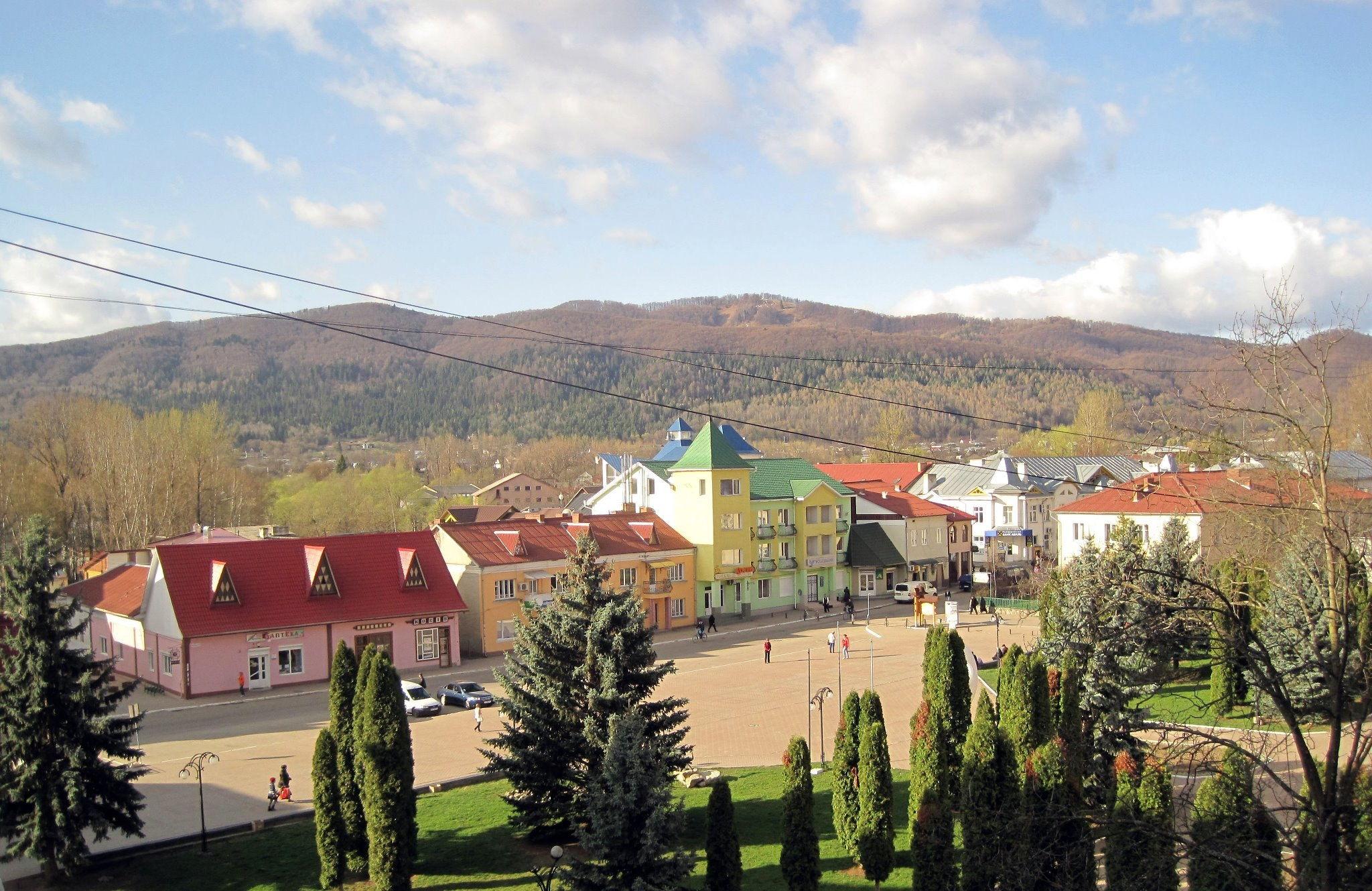 Косов, вид на центр города
