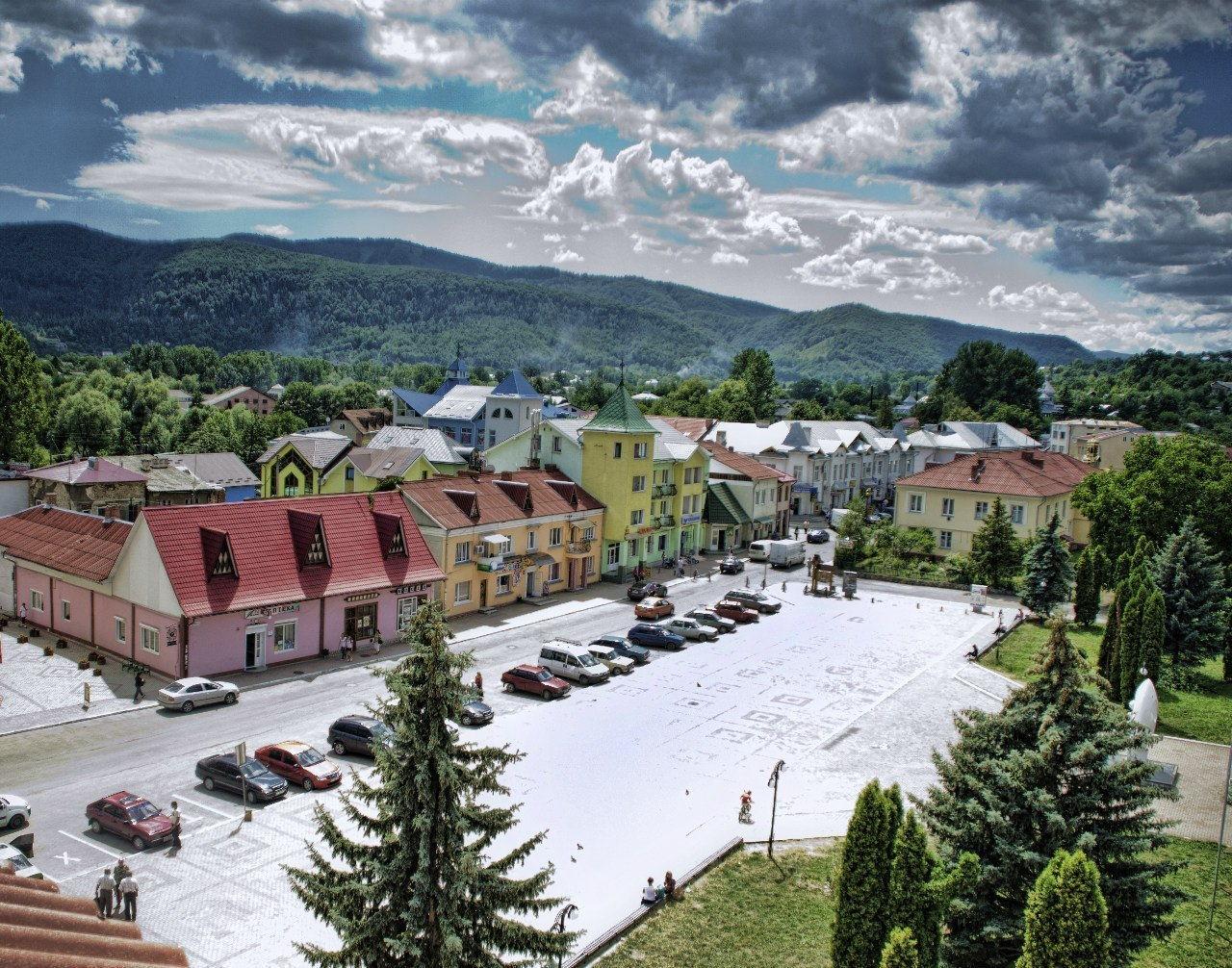 Вид на центр города Косов