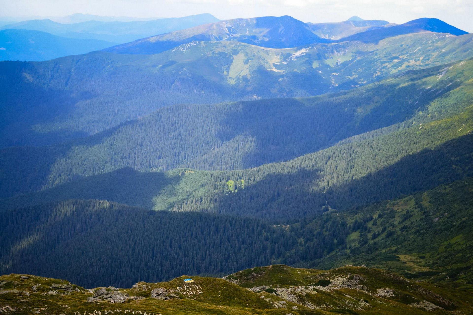 Панорама на Говерлу та Петрос із Піп Івана Чорногірського