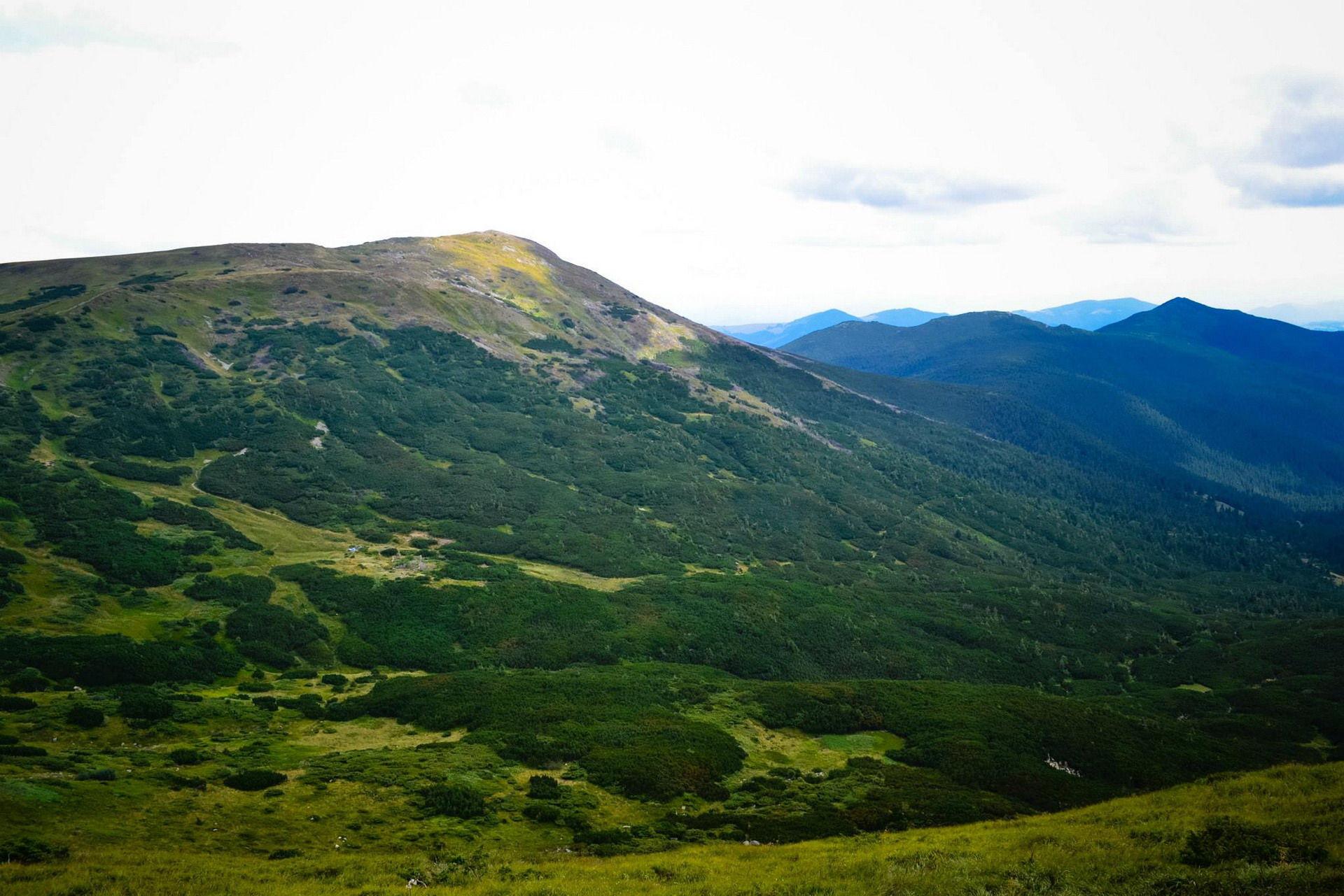 Маршрут Чорногірським хребтом, панорама Карпатських гір