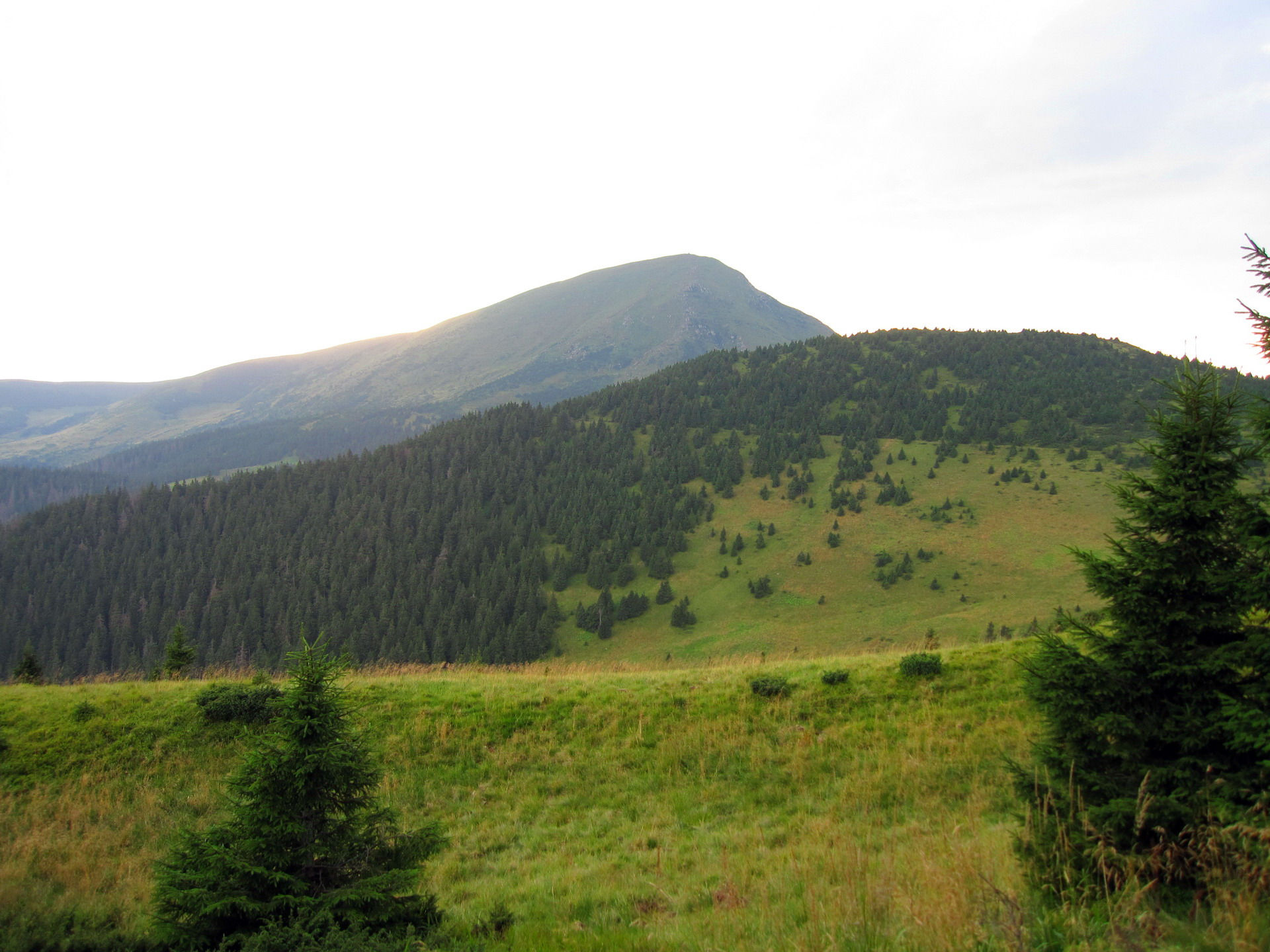 Маршрут Чорногорою, вид на гору Петрос