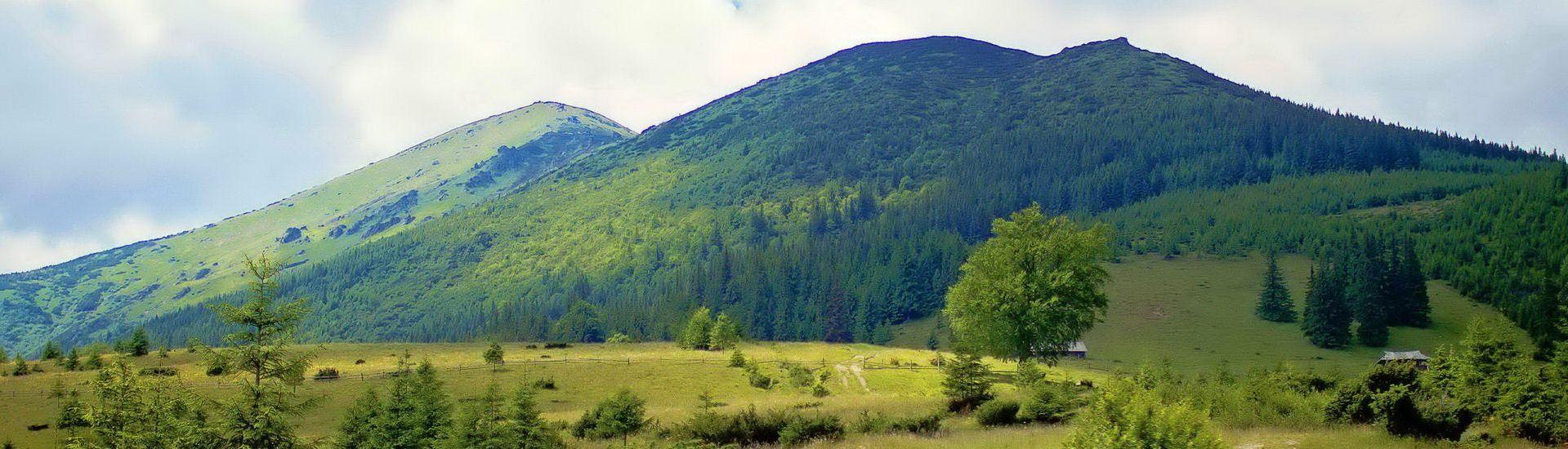 Вид на гору Смотрич, с. Дземброня