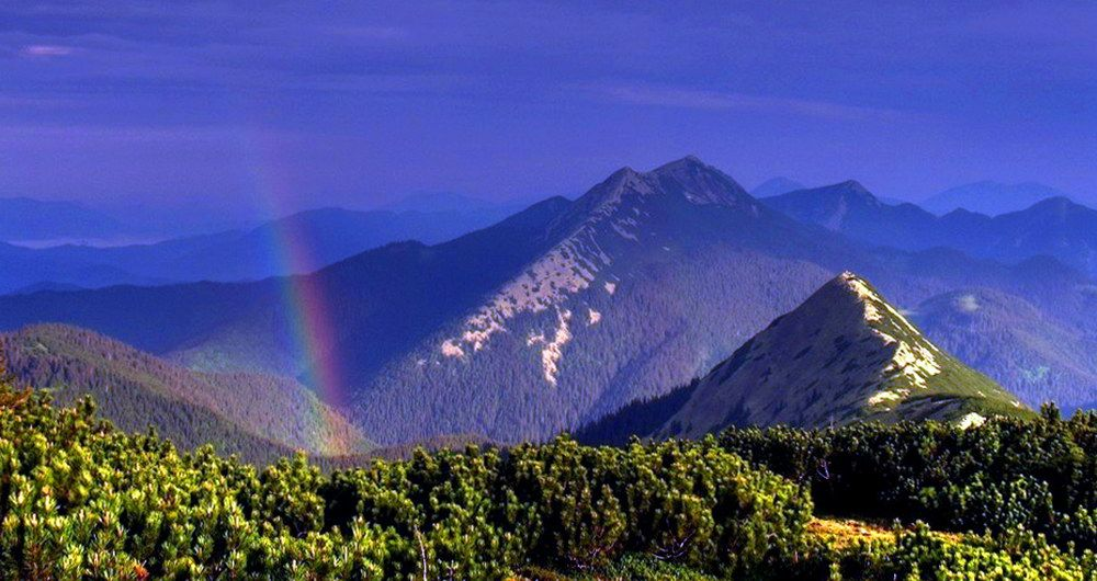 Вид гори Довбушанки після грози