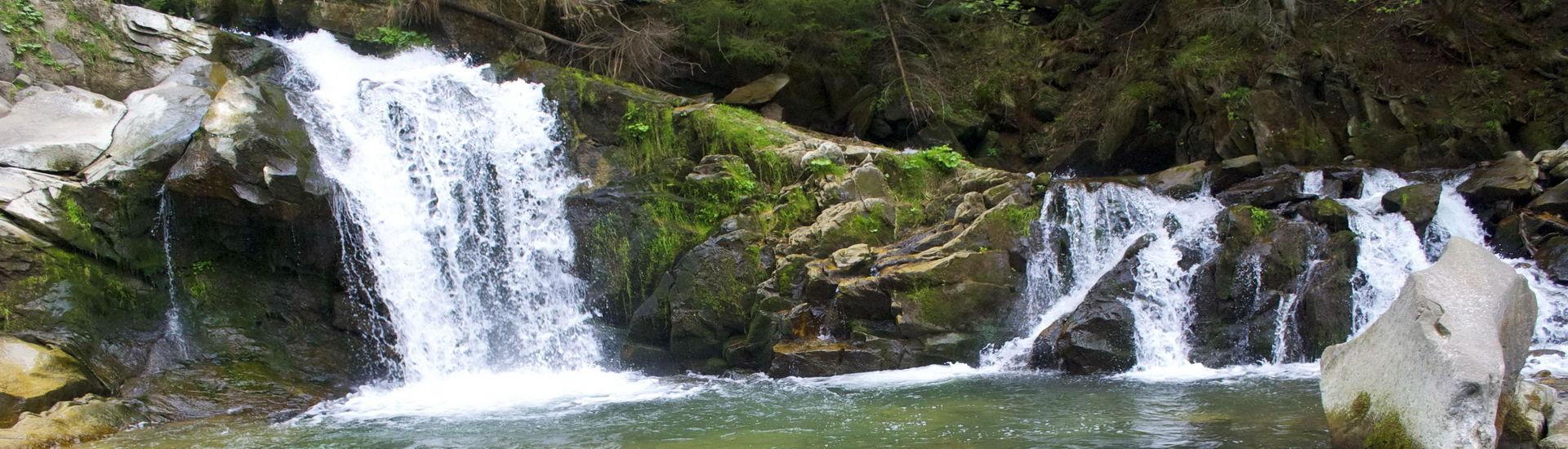 Маршрут на гору Ключ, Кам'янецький водоспад