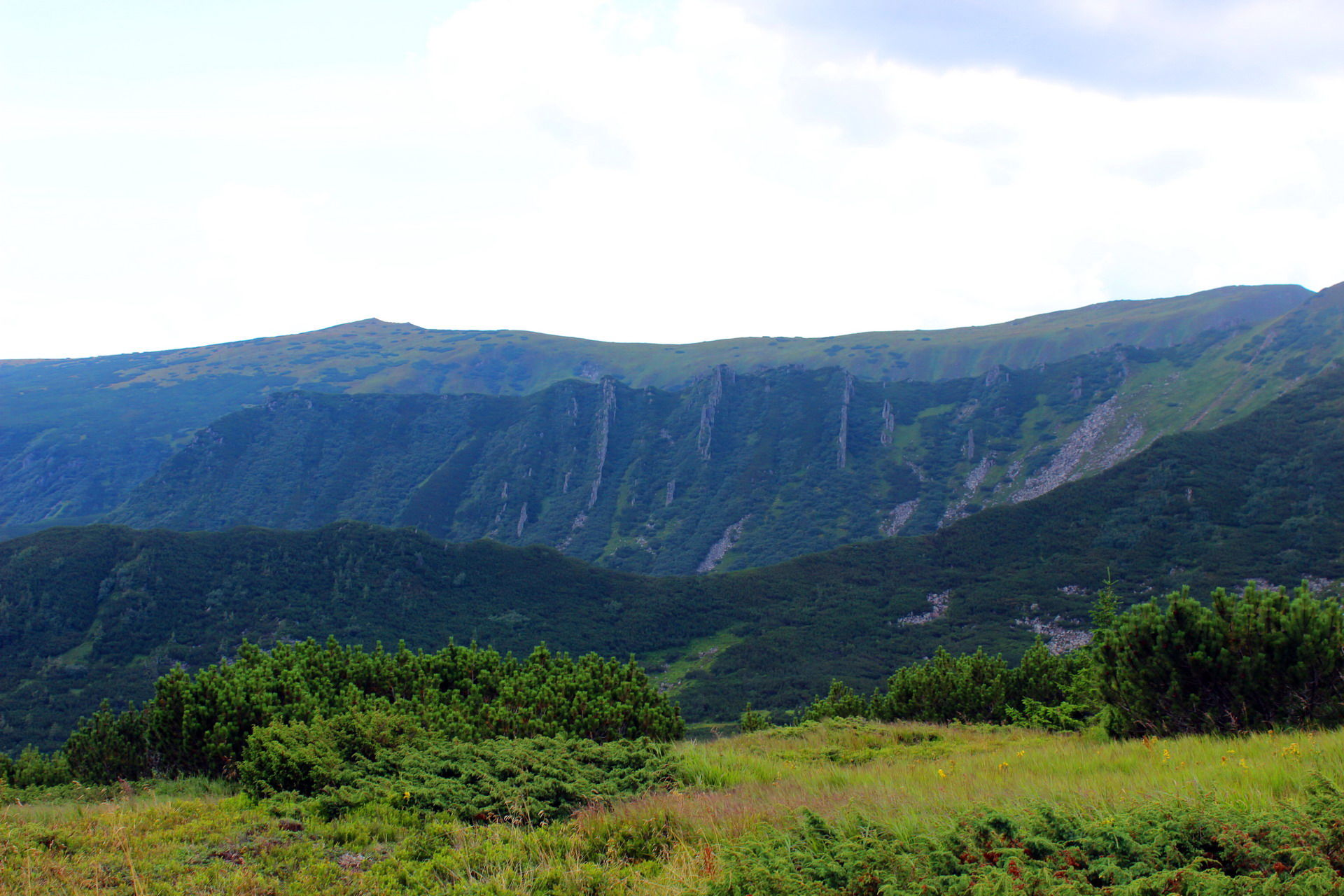 Массив Черногора, маршрут на гору Шпицы