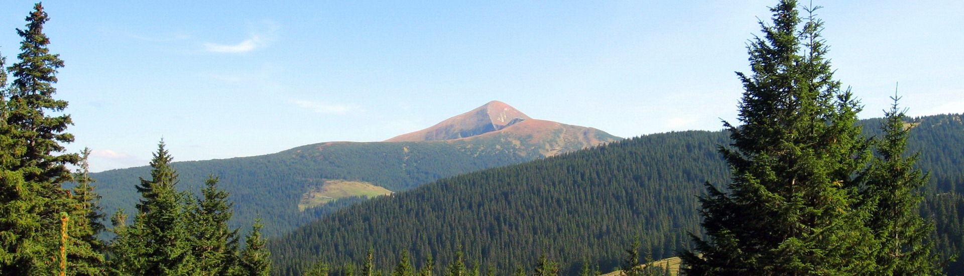Чорногірський хребет, панорама гори Говерла