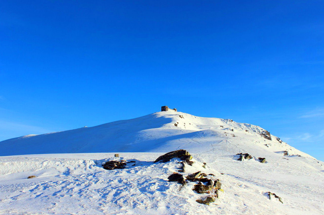 Зимняя панорама горы Поп-Иван Черногорский