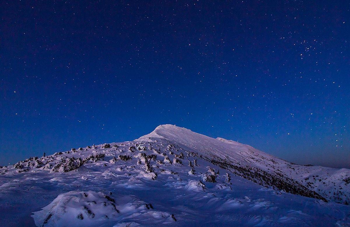 Вид на Поп-Иван Черногорский зимой