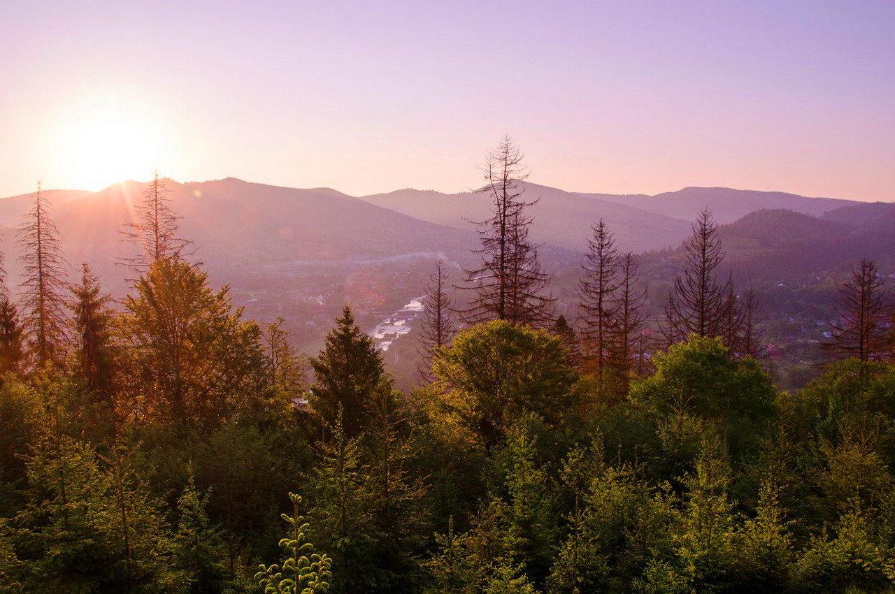 с. Микуличин, схід сонця