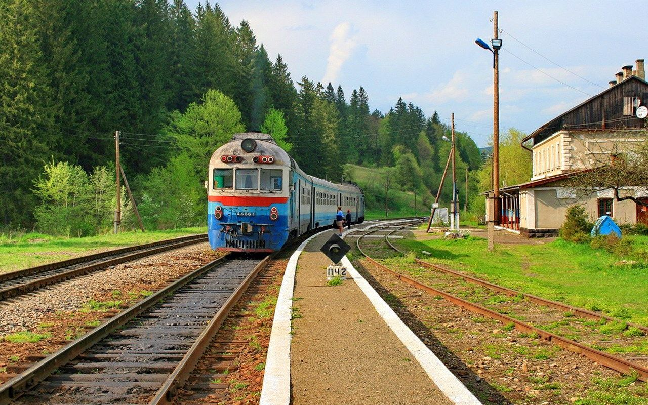 с. Микуличин, залізничний вокзал