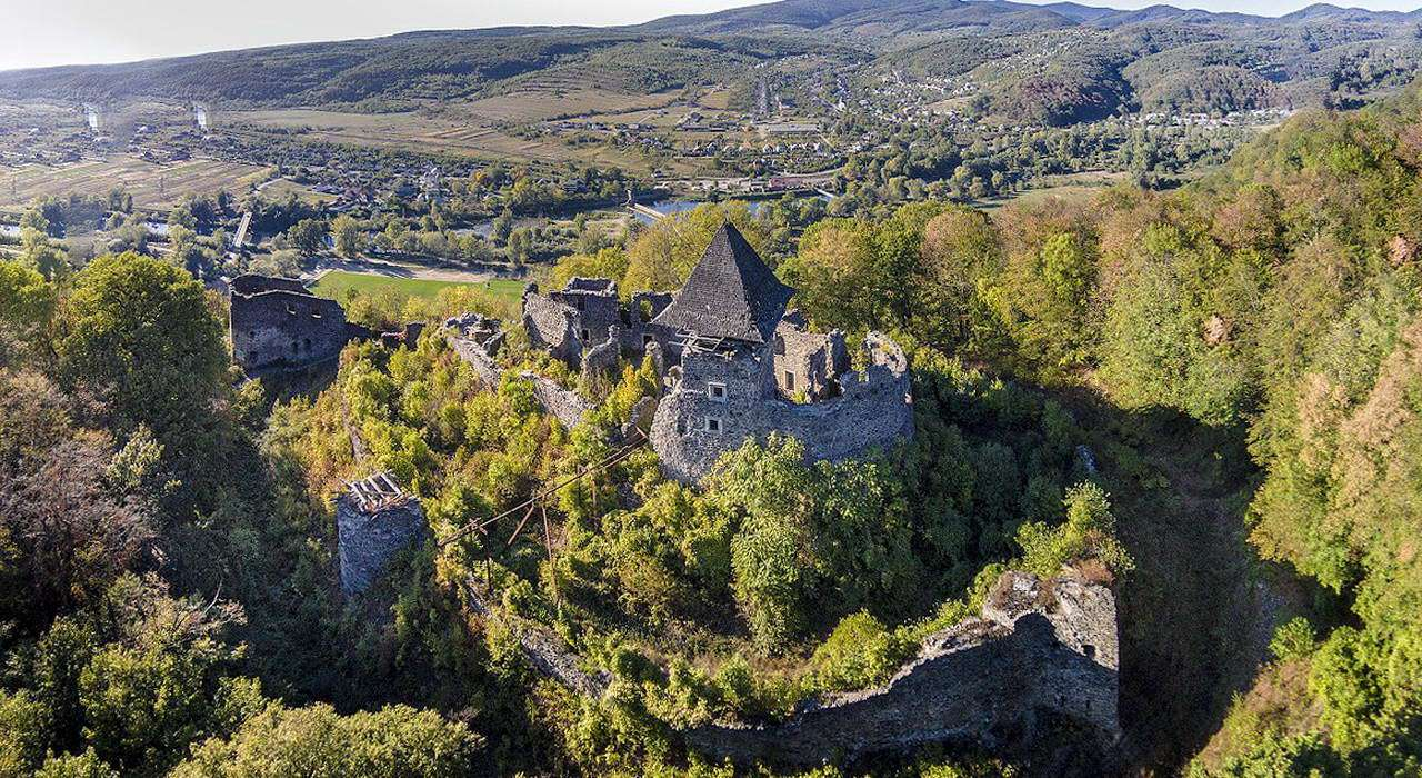 Невицький замок з висоти пташиного польоту
