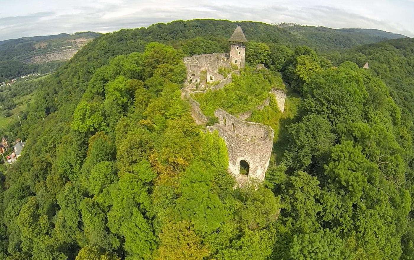Невицький замок, вид зверху
