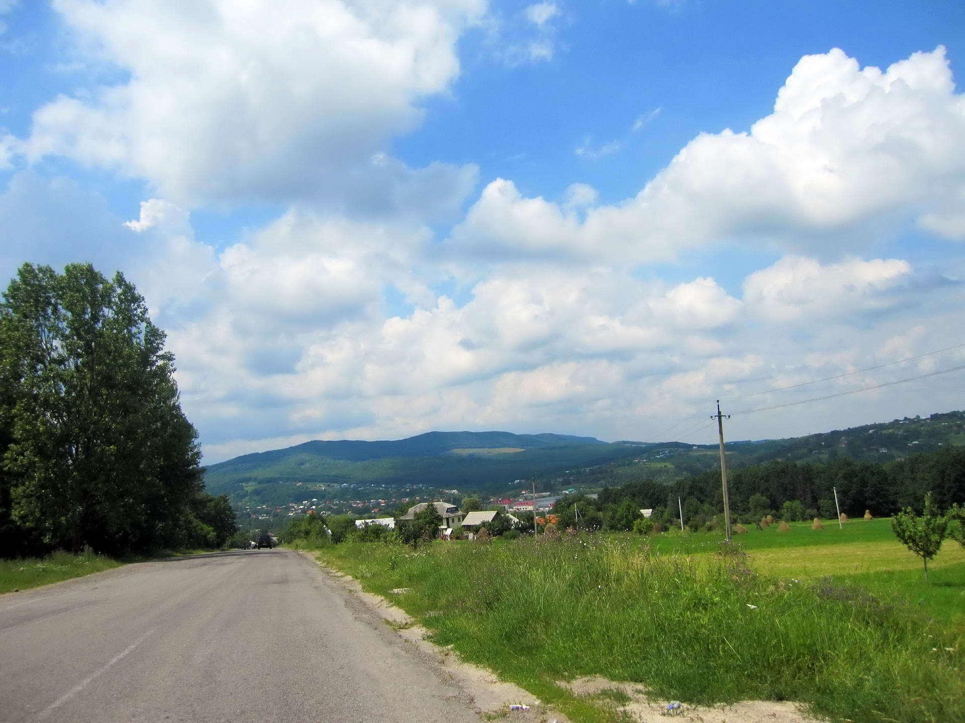 Косівський район, дорогою в село Шешори