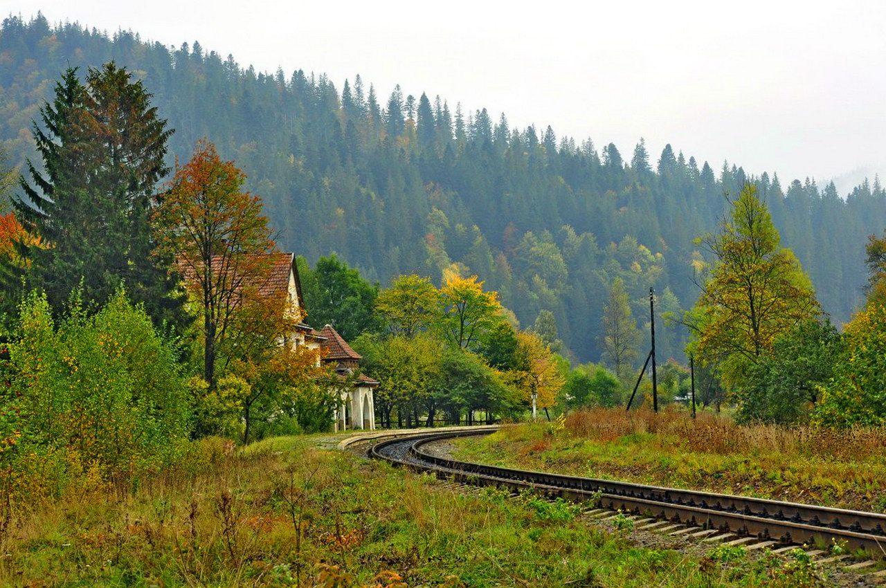 Залізнична колія в Татарові