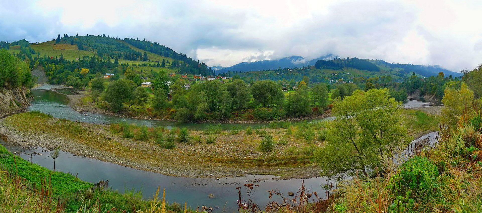 Река Черный Черемош, пгт Верховина