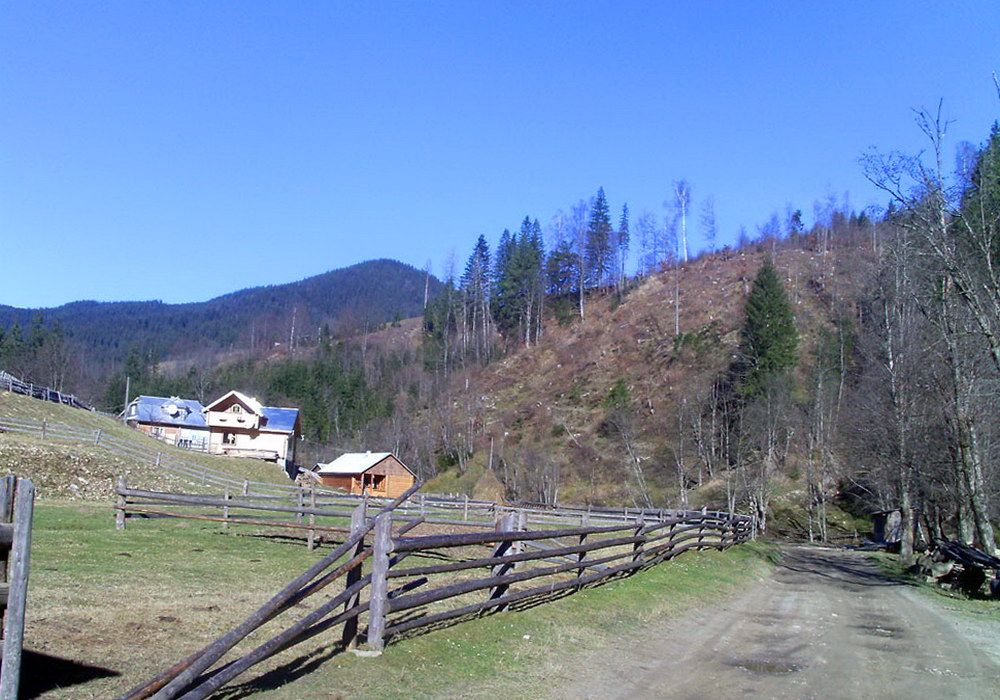 Гірське село в Карпатах - Волова