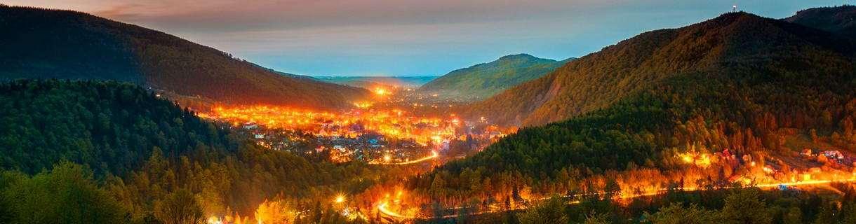 Панорама нічного Яремче (Яремча)