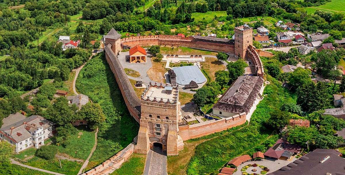 Замок Любарта з висоти
