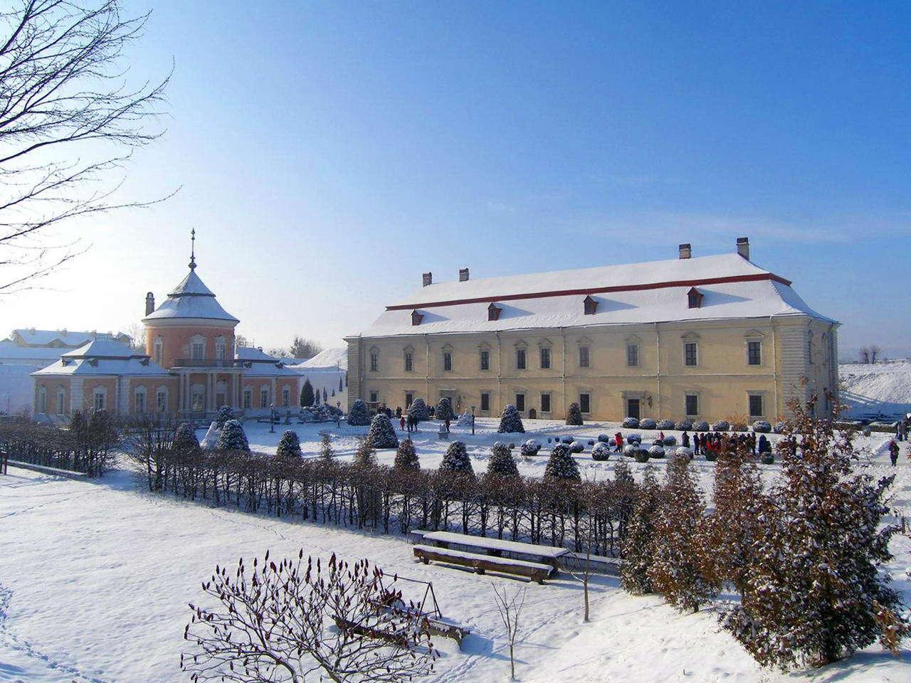 Золочівський замок взимку