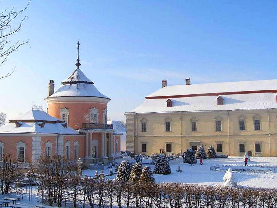 Зимовий Золочівський замок
